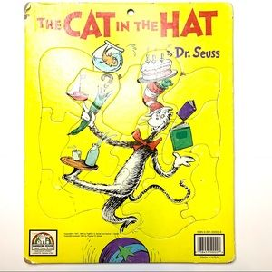 1980's Vintage Cat in the Hat Tray Puzzle